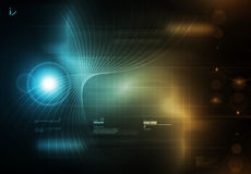 tecnology de bleu de fond illustration stock