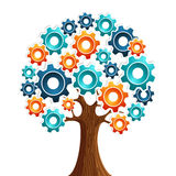 Tecnology engine tree Stock Photography