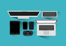 Tecnology gadgets set icons. Vector illustration design Royalty Free Stock Images