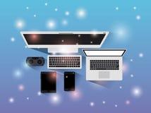 Tecnology gadgets set icons. Vector illustration design Royalty Free Stock Photo