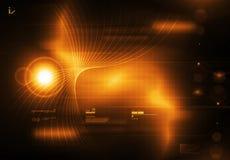 Tecnology Hintergrund-Orange Lizenzfreie Stockbilder