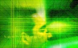 Tecnology im Grün Lizenzfreie Stockfotos