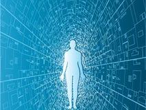 Tecnology man background Royalty Free Stock Photos