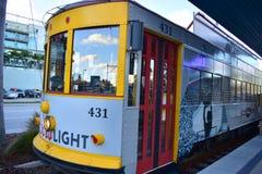 TECO Ybor City Streetcar. This photo was taken in Tampa Bay, Florida Royalty Free Stock Images
