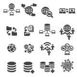 Tectnology en gegevenspictogram Stock Foto's