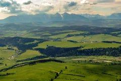 Tectonic foreland of Tatra mountains range. royalty free stock image