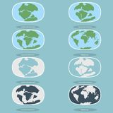 Tectonic Plates on the planet Earth. modern continents and   infographics Set of icons  Flat style Royalty Free Stock Photography