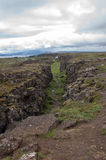 Tectonic plates in Thingvellir Royalty Free Stock Image