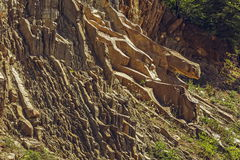 Tectonic rock layers Royalty Free Stock Photo
