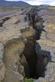 Tectonische plaat reusachtige barst Royalty-vrije Stock Foto