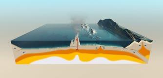 Tectonische platen van de korst van de Aarde Stock Foto's
