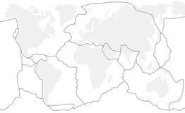 Tectonische Platen Zonder etiket vector illustratie