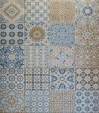 Tecture da telha de mosaico, textura de pedra, textura da telha Fotos de Stock Royalty Free