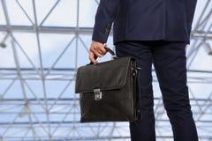 teczki biznesmena inwestora radosny portfolio Zdjęcie Stock