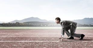 teczki biznesowego biznesmena turniejowy pojęcia bieg Zdjęcie Stock