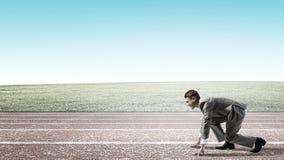 teczki biznesowego biznesmena turniejowy pojęcia bieg Obrazy Stock