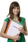 teczki certyfikata żeński uczeń Zdjęcie Stock