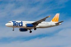 Ted Airbus A320 Fotografía de archivo libre de regalías