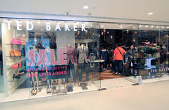 Ted Baker shop in Hong Kong Royalty Free Stock Images