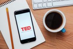 TED coroczna konferencja technologii rozrywki projekta wisząca ozdoba app Zdjęcie Royalty Free