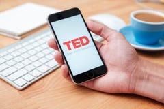 TED coroczna konferencja technologii rozrywki projekta wisząca ozdoba app Obrazy Royalty Free