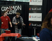 Ted Cruz booth Stock Image