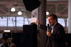 Ted Cruz holds his proposed tax form Stock Photo