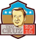 Ted Cruz President 2016 Republican Shield Royalty Free Stock Photo