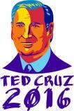 Ted Cruz President 2016 Retro Stock Image