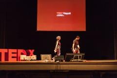 TED X het conceptuele ontwerpconferentie van NAPOLI Stock Afbeelding