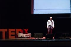TED X het conceptuele ontwerpconferentie van NAPOLI Stock Foto's