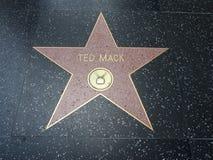 Ted Mack gwiazda w Hollywood Obrazy Stock