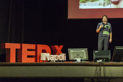 TED X NAPOLI conceptual design conference. TEDx is a program of local, self-organized events that bring people together to share a TED-like experience. Our event Royalty Free Stock Photography