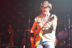 Ted Nugent. PHOENIX, AZ - JUNE 28: Ted Nugent, The Motor City Madman performs for fans at the Celebrity Theatre in Phoenix Arizona on June 28, 2011 royalty free stock image