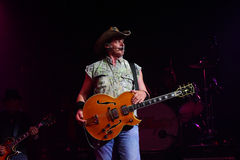 Ted Nugent. PHOENIX, AZ - JUNE 28: Ted Nugent, The Motor City Madman performs for fans at the Celebrity Theatre in Phoenix Arizona on June 28, 2011 Royalty Free Stock Photo
