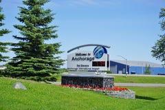Ted Stevens Anchorage International Airport (ANC) em Alaska imagem de stock royalty free