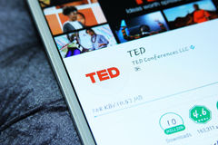 TED Talks app móvel Fotografia de Stock