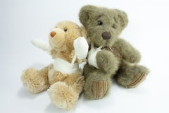 Ted and ted injured. Two injured friends waiting for doctor Royalty Free Stock Photos