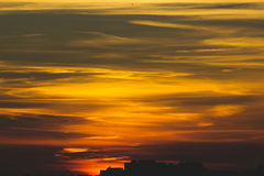 Ted varm solnedgång Royaltyfri Bild
