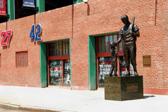 Ted Williams Statue at Fenway Park Stock Images