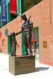 Ted Williams Statue at Fenway Park Royalty Free Stock Photo