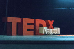 TED X NAPOLI conceptual design conference Stock Images