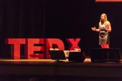 TED X NAPOLI konceptualnego projekta konferencja Obraz Stock