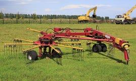 Tedder rake rotary HWR-6R Stock Image