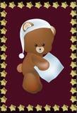 Teddie niedźwiedź z poduszką Zdjęcia Royalty Free