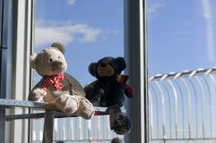 Teddies on a Cruiser Stock Images