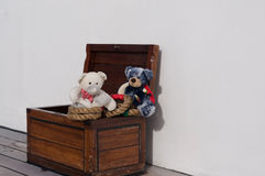 Teddies on a Cruiser Royalty Free Stock Photography