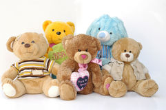 Teddies Group Royalty Free Stock Photography