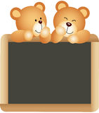 Teddies School Board Stock Photography