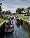 Teddigton Verriegelung, Surrey, England Lizenzfreies Stockfoto